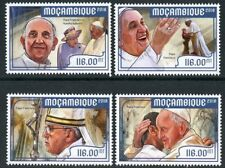 MOZAMBIQUE 2018 5th PAPAL ANNIVERSARY  OF POPE FRANCIS SET MINT NH