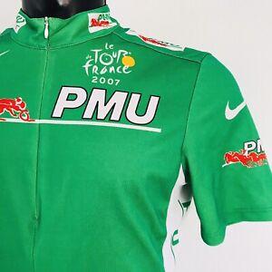 Nike Tour De France PMU Cycling Green Points Jersey - Adults Men's Size M 2007