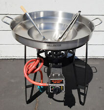 Burner & Stand and 22 inch Round Disc Taco Griddle Grill Comal Wok and tools