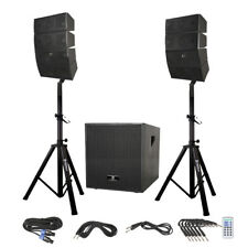 PRORECK Bluetooth Speaker PA System Line Array Speaker & Active Subwoofer