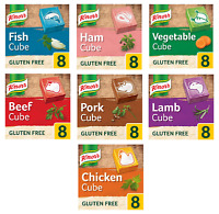 Knorr Schwein Rindfleisch Huhn Lamb Fisch Gemüse Schinken Lager Cubes 8 & 16