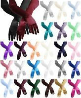 "Evening Dress 22"" Long Opera Stretch Satin Gloves"