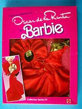 """1984 OSCAR DE LA RENTA FASHION Coll Series IV for Barbie & all 12"""" dolls NRFB"""