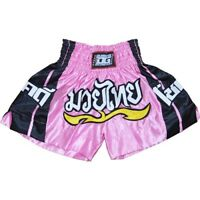 LITE RED SHORTS TRUNKS FOR THAIBOXING KICKBOXING Kids XS - XL Adults