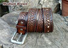 Personalized Viking Tooled Leather Belt Celtic belt, western belt, cowboy belt