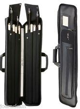 New Predator Blak C3SY4X8 Soft 4x8 Cue Case - Black Vinyl - C3SY4x8 Blak