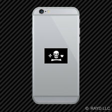 Jolly Roger Stede Bonnet Flag Cell Phone Sticker Mobile Die Cut pirate flag