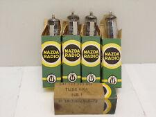 lot 5 Lampe tube radio MAZDA 6BX4 6X4 V1.2 vintage TSF armée french army