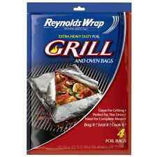 Reynolds Wrap Extra Heavy Duty Foil Grill and Oven Bags (4 Count)