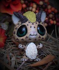 Littlest Pet Shop chibi leopard Dragon Forest Spirit OOAK custom figure LPS jagu