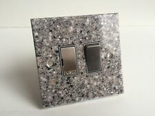 John Lewis 13 Amp Switched Fuse Spur Switched Grey Marble Speckle