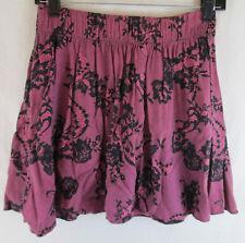 Victoria's Secret PINK Girl's Large Skirt Dusky Rose Black Floral Print Mini