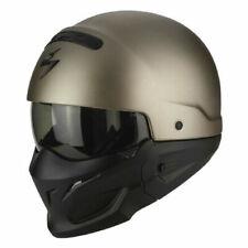 Scorpion Exo combate Titanio cara abierta casco de Motocicleta Visera De Sol
