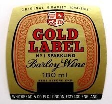 Whitbread & Co GOLD LABEL BARLEY WINE beer label ENGLAND 180ml