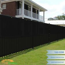 Black 5'x50' Windscreen Privacy Fence Shade Cover Mesh Outdoor Lawn Construction