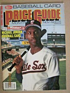 1990 SPORTS COLLECTORS DIGEST MICHAEL JORDAN COVER & BASEBALL TRADING CARD