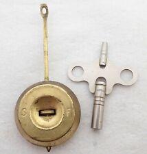 Antique Ansonia Mantel Shelf Clock Pendulum + Key Parts Repair