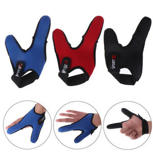 2 Fingers Outdoor Breathable Anti-Slip Gloves Fishing Finger Protecto-xd