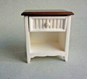 DOLLHOUSE MINIATURE ~ WHITE END TABLE ~ RETIRED