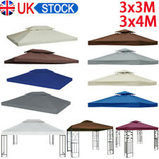 More details for 3x3m 3x4m 2-tier garden gazebo top cover roof replacement fabric tent canopy uk