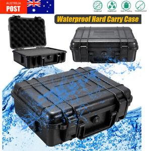 Waterproof Hard Plastic Carry Case Tool Storage Box Portable Organizer & Foam %*