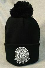 New Versace Beanie Hat Unisex Cap Black