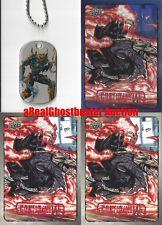 Ghost Rider Dog Tag + 2 Base Cards & 1 Foil Card - Upper Deck Marvel Dossier