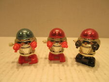 3 Vintage Tomy 1978 Rascal Robots Windup Walking Toys Made In U.S.A.