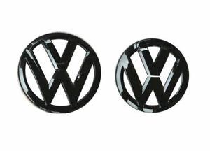 Volkswagen GOLF6 Schwarz glänzendes Emblem für die Vorder- und Rückseite