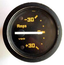 Amps meter gauge instrument Kelmark GT VDO original vintage ampere -30 +30 dash