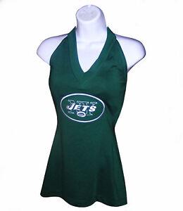 Nfl Womens Apparel - New York Jets Ladies Nfl Strap-Tie Halter Top, nwt, LARGE