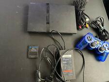 Sony PlayStation 2 Schwarz Spielekonsole inkl. 8 Spiele