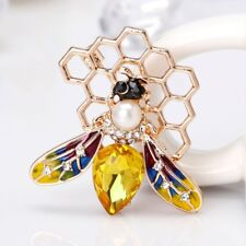 Fashion Enamel Bee Brooch Clothing Backpack Pin Corsage Badge Gift Women Jewelry