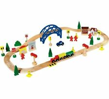 Chad Valley Nice Wooden Train Set Unique Tracks Over And Over Again And 60 Piece