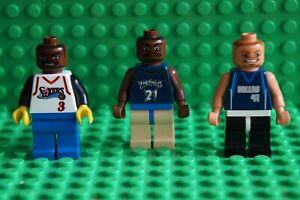 LEGO 3 BASKETBALL PLAYERS MINIFIGURES No 3 IVERSON No 21 GARNETT No 41 NOWITZKI