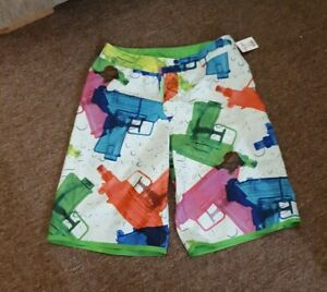 Boys Quicksilver Reversible Board Shorts. Size T16 28-30w