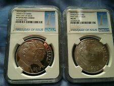 """2015 W & 2015 P MARCH OF DIMES S $1 """"FIRST DAY OF ISSUE"""" PF 69 UC & MS 69 NGC"""