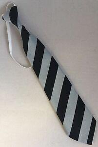 Infant School Block Equal Stripe Striped Elastic Tie