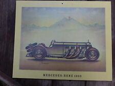 Vintage Mercedes Benz 1933 print model of the car, perfect for pub shop playroom