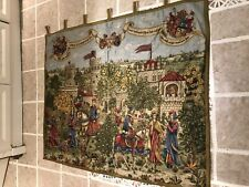 More details for beautiful vintage tapestry wall hanging - medieval scene
