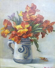 Ölbild Blumenbild um 1900 Signiert