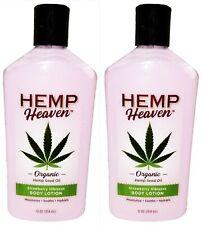 2 x Hemp Heaven Organic Hydrating Hemp seed oil Body Lotion Strawberry Hibiscus