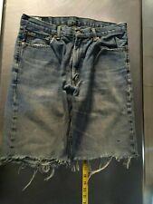 Levi's 550 jeans Cut shorts Distressed Hippie Boho Denim Vintage denim size 34