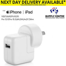 12w Wall Charger Adapter for Apple iPhone 8 X 7 Plus 6s 5 5s iPad Pro Mini Air 2