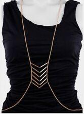 Drape Necklace by Bebe Silver Metal Body Chain