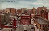 St. Louis Amerika America Missouri 1907 Panorama Eye View Vintage Postcard USA