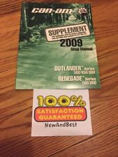 Can-Am Brp 2009 Shop Repair Manual Supplement Outlander Renagade 500/650/800