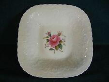 """Spode Bridal Rose / Savoy Billingsley Rose 9 1/4"""" Square Serving Bowl Plain Trim"""