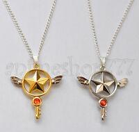 Card Captor Sakura Kinomoto Star Wand Key Necklace Pendant Cosplay Free Shipping