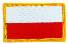 FLAG PATCH PATCHES POLAND POLISH POLSKA IRON ON COUNTRY EMBROIDERED WORLD
